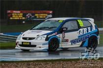 Honda Civic's at Donington Park National 2015