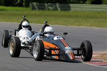 Formula Vee - Steve Ough led both races