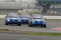 A trio of Clio's take to the track in Stock Hatch