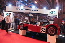 Billy Albone's 750 Formula car drew a lot of attention at this years show.